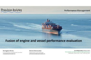 "Propulsion Analytics participates in ""Vessel Optimisation Webinar Week"""